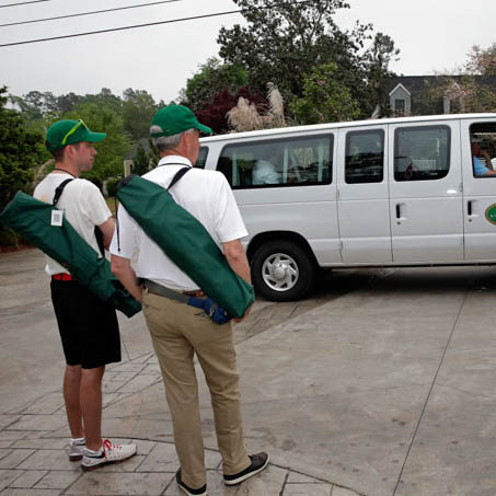 The Club Magnolia Shuttle will take you to and from the course
