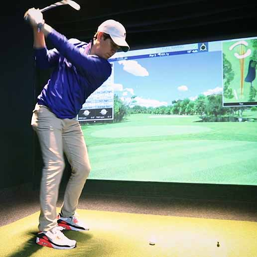 Sharpen your swing in the Golf Simulator