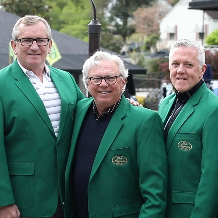 Guests have green jacket photos taken