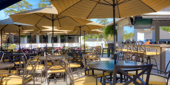 Patio Seating at the Golf Bar